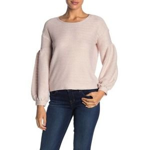 GIBSON M Raspberry Rose Textured Knit Top